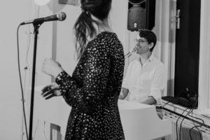Tijdens je receptie of diner kun je ook live achtergrondmuziek doen (Song for you) Foto: Dorien Scheltens