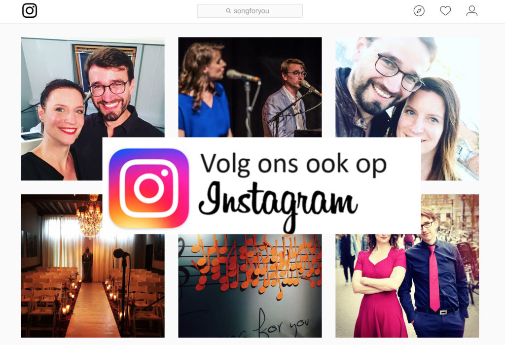 Akoestisch duo Song for you op Instagram